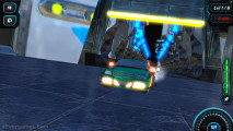 Moon City Stunt: Futuristic Green Car