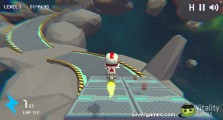Moto Space Racing 2 Player: Gameplay Race In Space