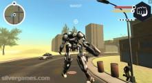 Muscle Car Robot: Gameplay Destruction City