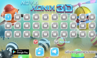 Nova Xonix 3D: Level Selection