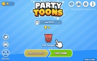 PartyToons .io: Menu