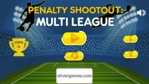 Penalty Shootout: Multi League: Menu