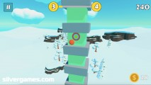 Pockey Ball: Gameplay Jumping Tower