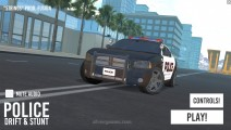 Police Drift & Stunt: Menu