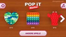 Pop It Master: Menu