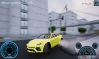 Project Car Simulator: Berlin: Speeding Drifting Yellow Car