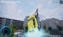 Project Car Simulator: Berlin: Gameplay Jumping Bridge Yellow Car