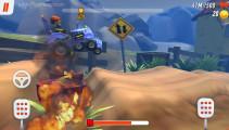 Racing Rocket: Gameplay Racing Over Fire