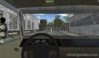 Russian Kamaz Truck Driver: Cockpit Camera