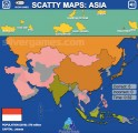Scatty Maps Asia: Geography Knowledge