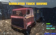 Simulated Truck Driving: Menu