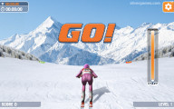 Slalom Ski Simulator: Start Ski Race
