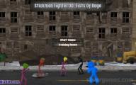 Stickman Fighter 3D: Fists Of Rage: Menu