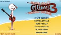 Super Crazy Guitar Maniac Deluxe 3: Menu