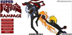 Super Fighters Rampage: Menu