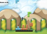 Тетрис'D: Gameplay Jumping Blocks