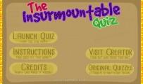 The Insurmountable Quiz: Menu