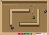 Tiny Tanks: Gameplay Shooting Tanks
