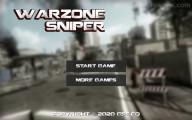 Warzone Sniper: Menu