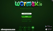 Wormax .io: Start Screen