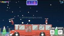 Xmas Rooftop Battles: Gameplay Two Player Battle
