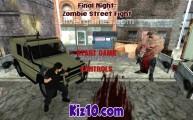 Zombie Street Fighter: Menu