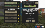 Zombie Survival 3D: Menu